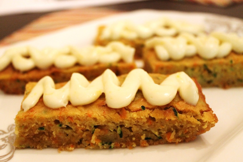 Carrot & Zucchini Bars with Lemon Cream Cheese Frosting - Domestic ...