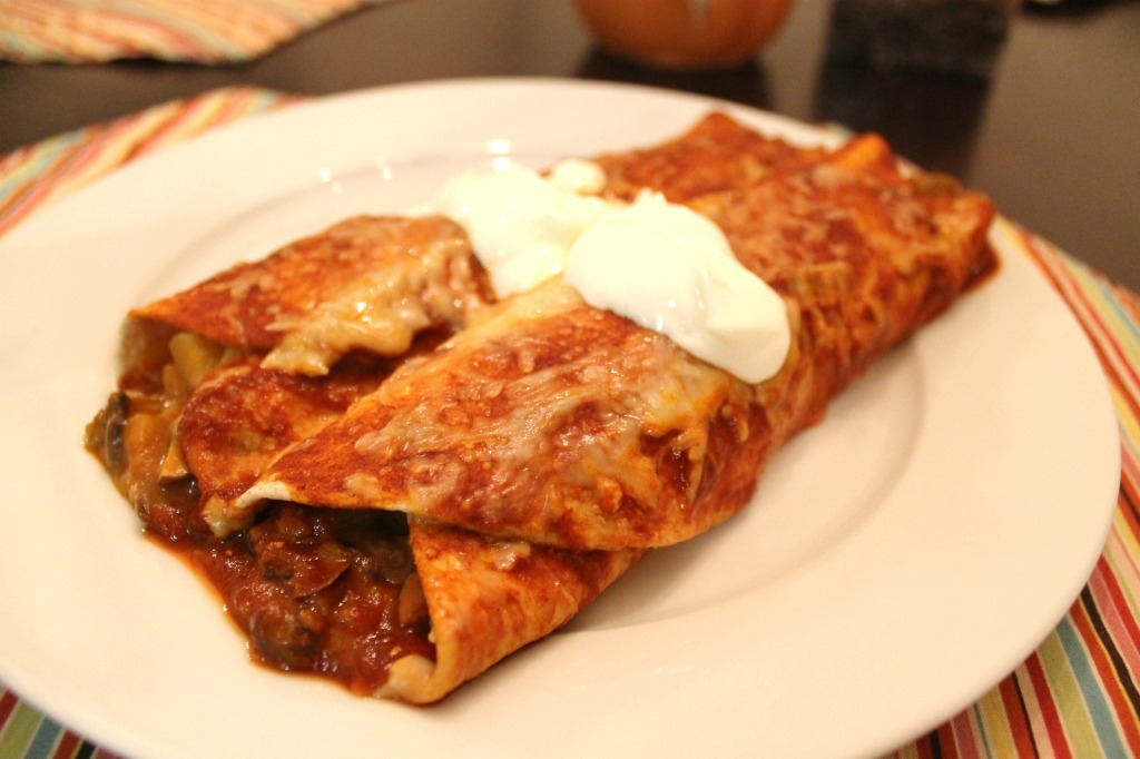 Bean and Potato Enchiladas