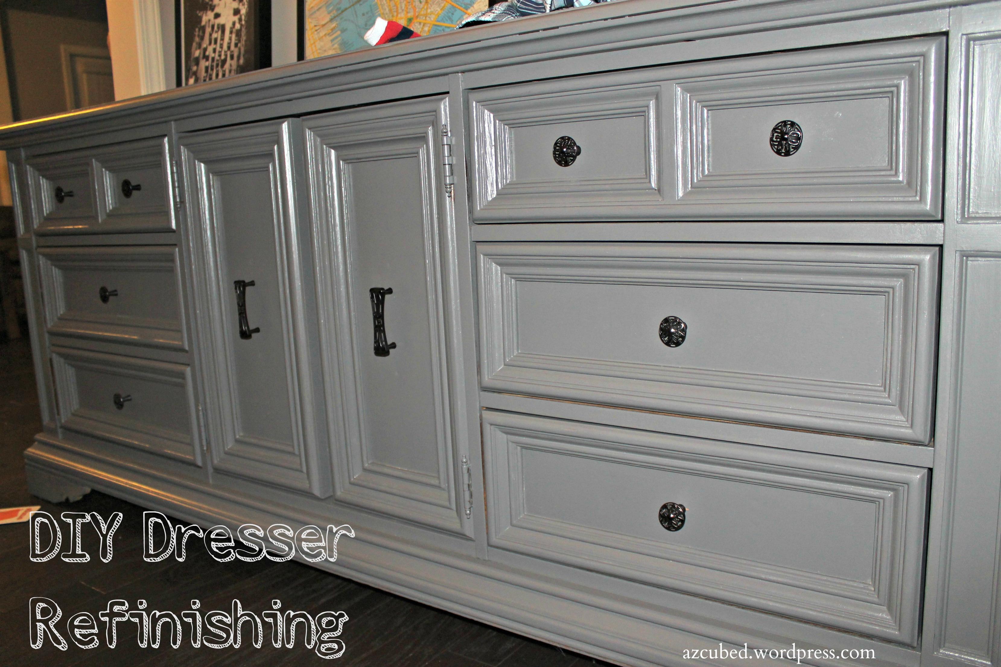 diy dresser refinishing! • domestic superhero