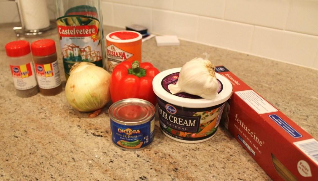 Linguine in Tex-Mex Pepper Cream Sauce