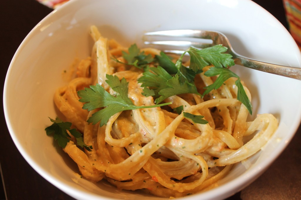 Linguine in Tex-Mex Pepper Cream Sauce