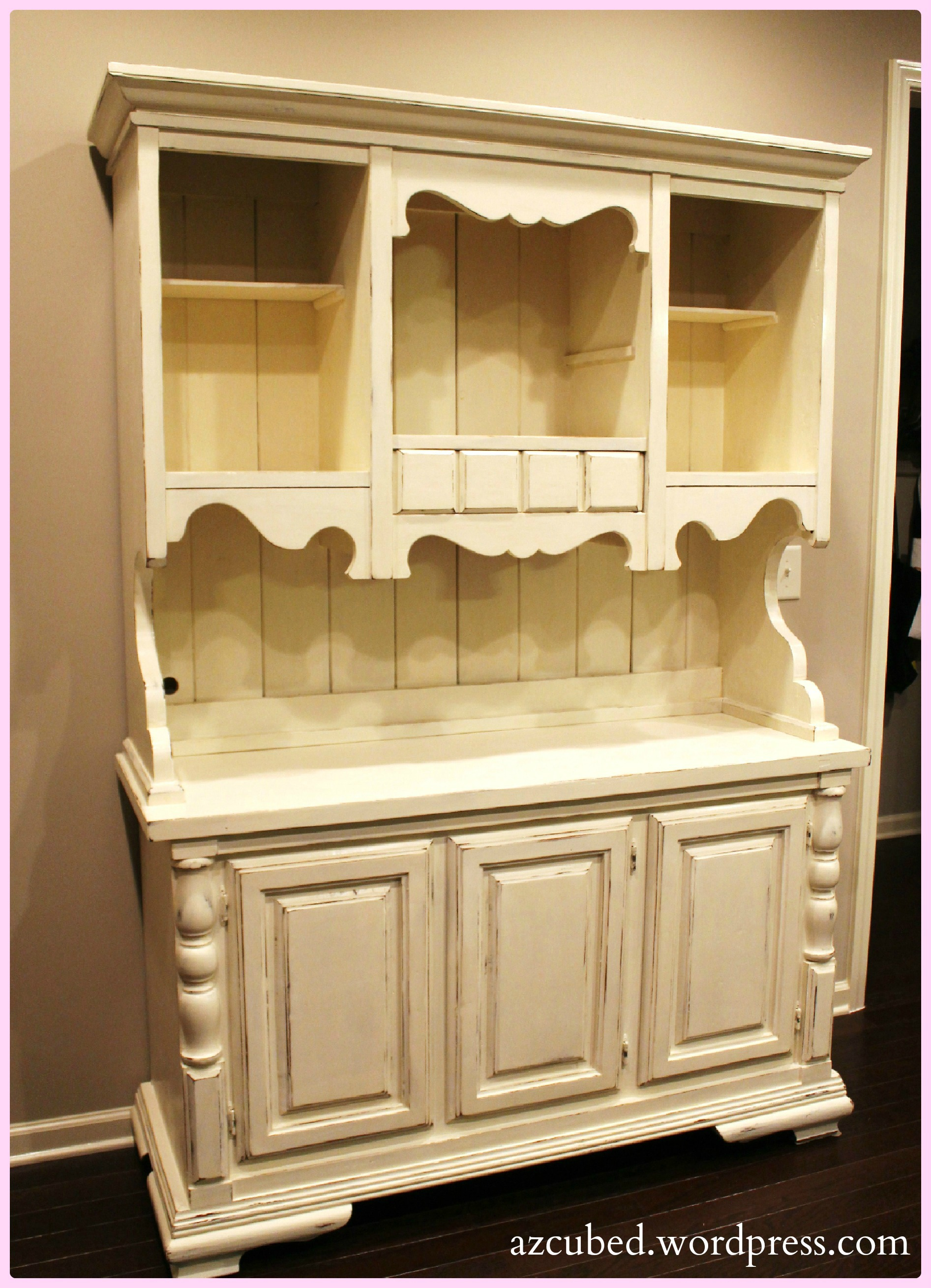 Refinished Farmhouse Hutch with Tutorial • Domestic Superhero on trash can for kitchen ideas, fall decor for kitchen ideas, shelf for kitchen ideas,