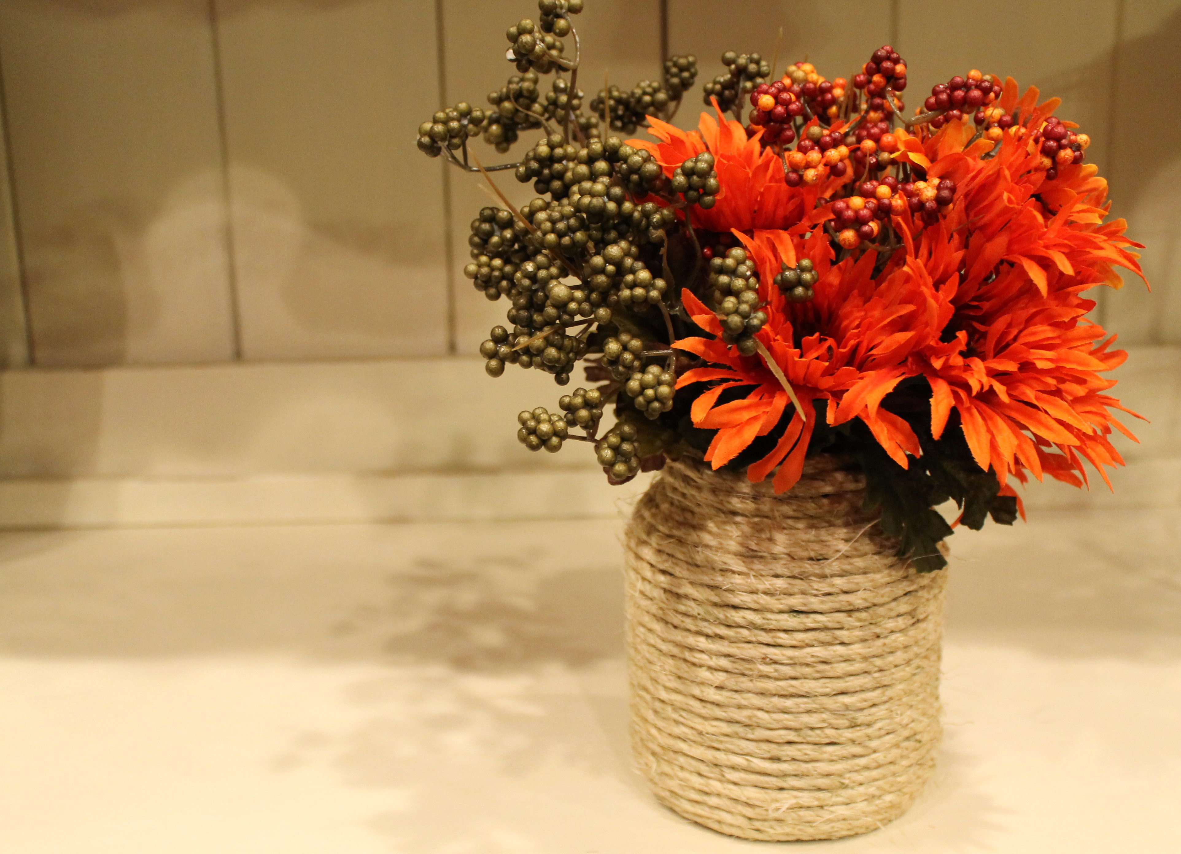 Diy fall twine vase domestic superhero diy fall twine vase a simple diy project with only a few supplies needed reviewsmspy