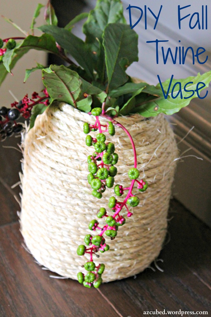 DIY Fall Twine Vase - a simple DIY project with only a few supplies needed!