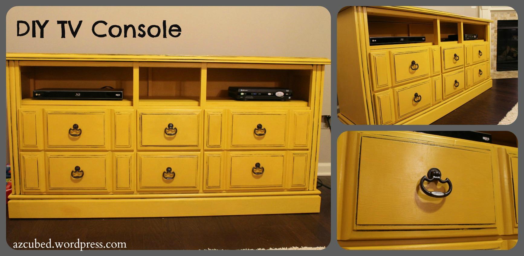 Fantastic DIY Dresser turned TV Console with Tutorial • Domestic Superhero YT79
