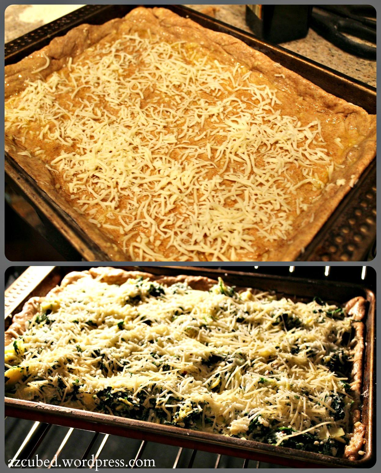 Spinach Artichoke Pizza: Spinach And Artichoke Pizza • Domestic Superhero