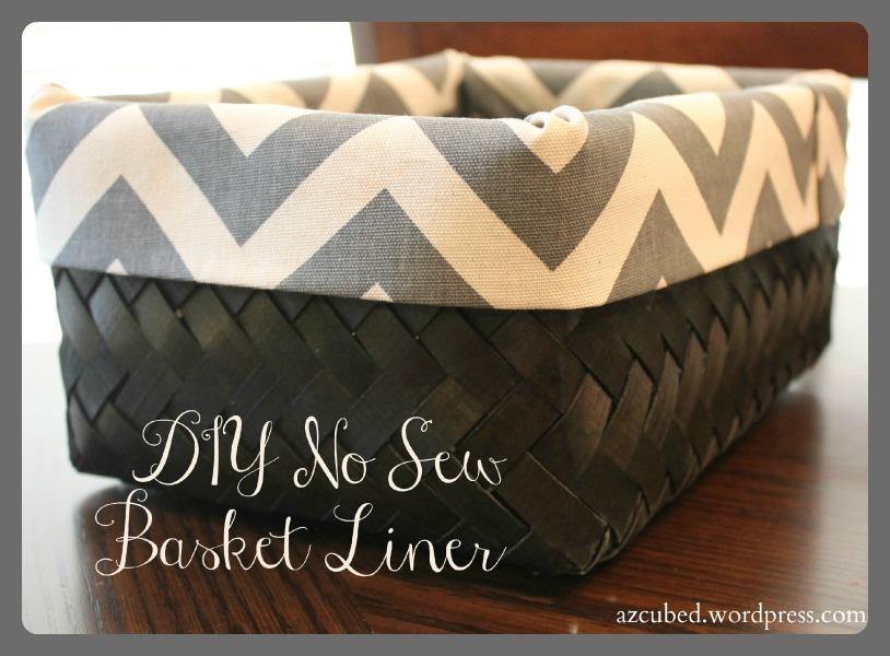 diy easy no sew basket liner domestic superhero