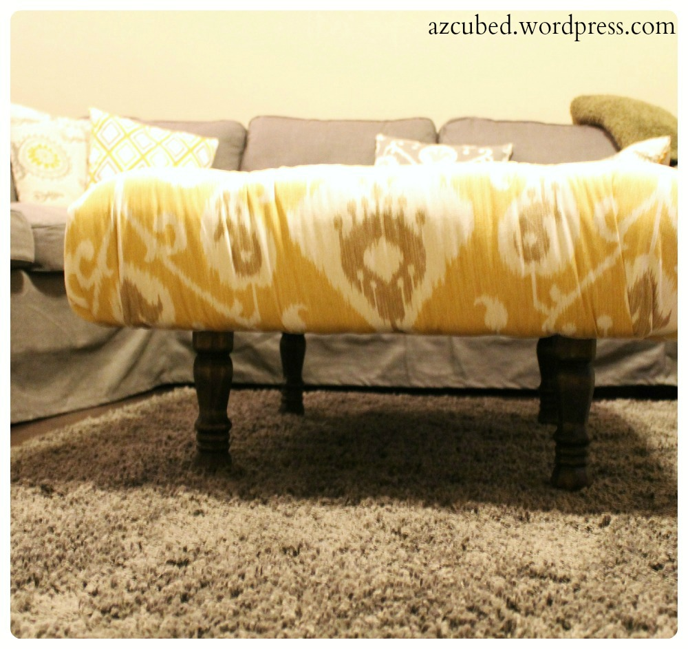 Ikat Ottoman Coffee Table Diy Tufted Ikat Ottoman From Upcycled Pallet With Tutorial