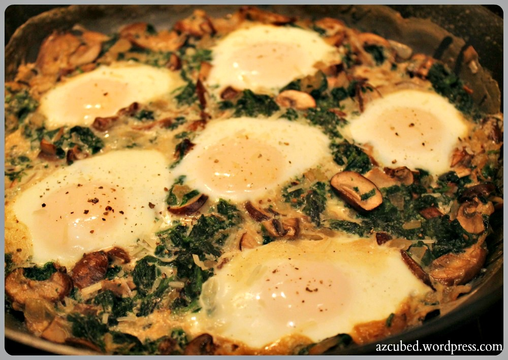 parmesan mushrooms tomatoes and parmesan baked eggs with mushrooms and ...